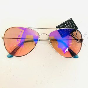Purple Silver Aviator Barbie Sunglasses
